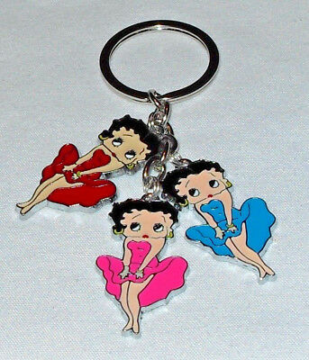 Betty Boop Keychain/Keyring Marilyn Pose Red Blue Hot Pink Handcrafted