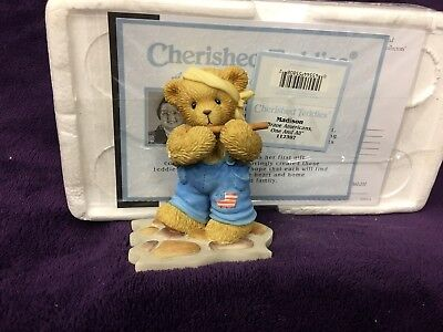 """Cherished Teddies figurines """"Madison"""" Brave Americans One And All."""