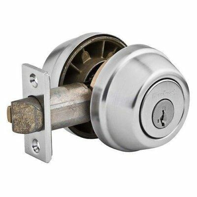 Kwik 599 Us26D Smt 238 Scl 3028Dbl Cyl Gatelatch Deadbolt