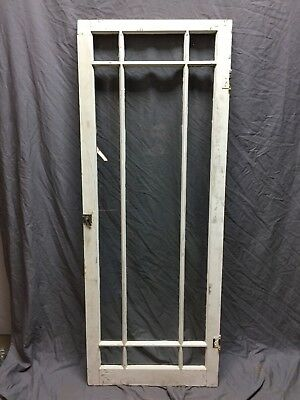 Single Antique 9 Lite Casement Cabinet Window Door 24X63 Vintage Old 328-18C