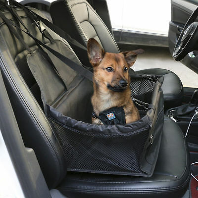 2 in 1 Dog Car Booster Seat Cover Travel Carrier Safety Basket Folding Front