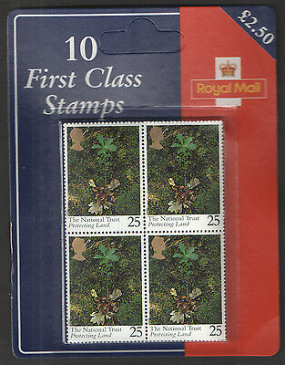 SG1869 National Trust 1995 10 x 25p Retail Pack