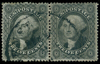 Momen: Us Stamps #36 Pair Used Vf