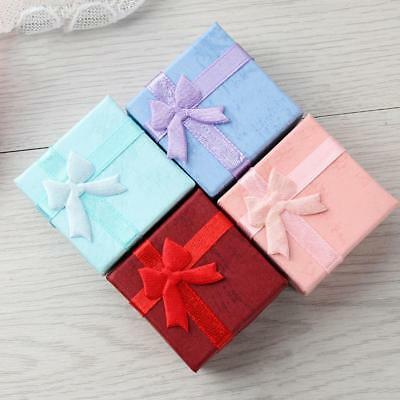 5/10Pcs Craft Paper Package Bowknot Jewelry Necklace Earring Ring Gift Box SALE