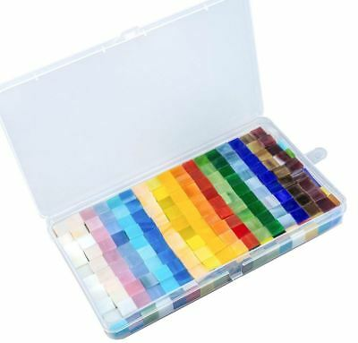 450 Pcs Tiles Mosaic Stained Glass Pieces Colored 1x1 For Art Craft Bulk Antique