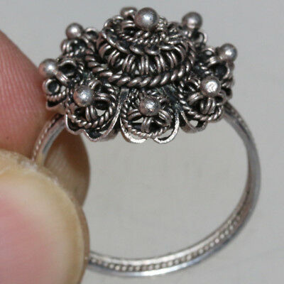 Very Rare Scandinavian Medieval Hand Made Solid Silver Ring