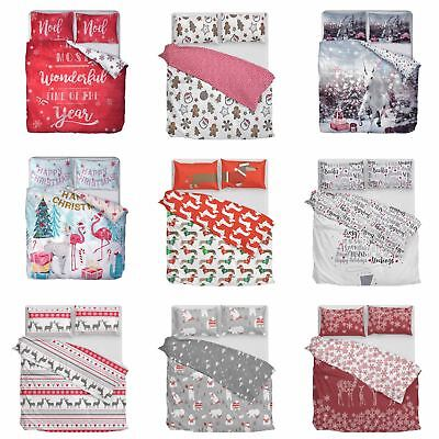 Christmas Duvet Cover Xmas Red Quilt Covers Bedding Set Sausage Dog Unicorns