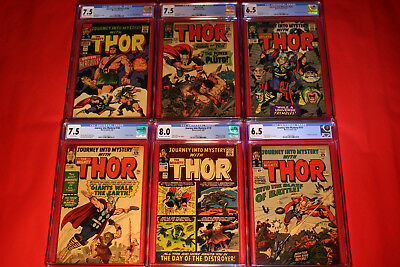6 Thor Cgc Lot Silver Age Journey Mystery Jack Kirby Stan Lee Marvel Spider-Man