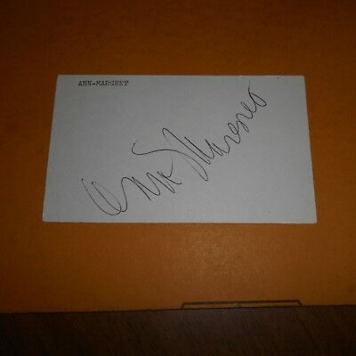 Ann-Margret, is a Swedish-American actress, singer  Hand Signed 5 x 3 Card