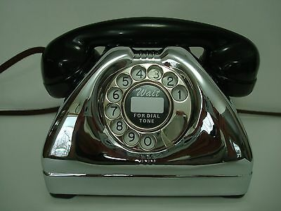Antique telephone Toaster phone Model TP6A Restored Connecticuit Chrome