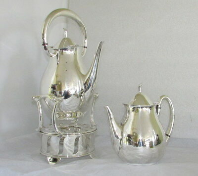 Codan Mexico Sterling 925 Silver Kettle On Stand & Teapot Mid Century Goodspeed