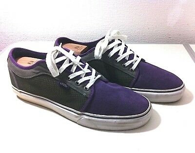 8c34db7f74 Mens Vans Off The Wall Canvas Trainers Shoes Size Uk 11 Eu 46 Skateboard  Shoes