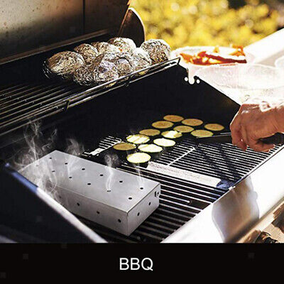 Stainless Steel Meat Barbecue Smoking Smoker Box Gift for Dad