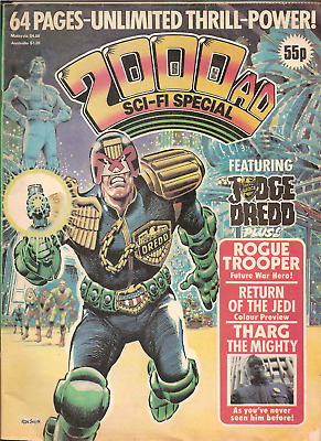 2000Ad Sci-Fi Special Featuring Judge Dredd,1983:return Of The Jedi Preview