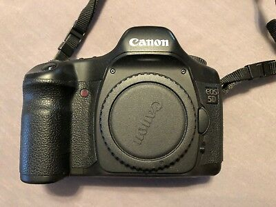 Canon EOS 5D Mark I Classic 12.8MP Digital SLR Camera Body with Extras!