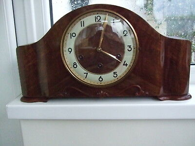 Lovely Cond. Hac Westminster & Whittington Dual Chiming Mantle Clock Please See