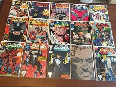 Lot Copper Age PUNISHER Comic Books by MARVEL #47-62 You get 15 books! NICE RUN!