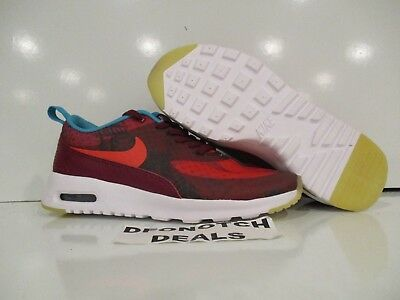 0d696668db00 WOMEN S NIKE AIR Max Thea Print N7 Running Shoes Sz 5 Red 811362 664 ...