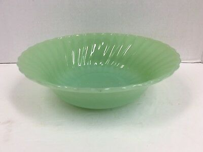 "Vintage Anchor Hocking Fire King Jadeite 8.5"" Swirl Serving Bowl"