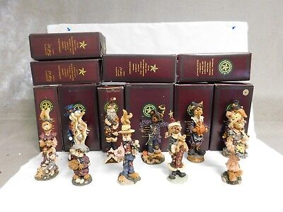 Boyds Bears & Friends ~ Lot Of 10 Figuines ~ The Folkstone Collection