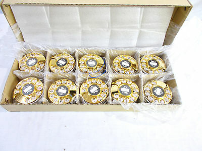 Box of 10 Brass/Gold Plated Plastic Dials 1970's Last Best Dial Ever Made