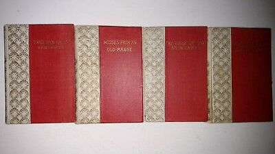 Lot of four antique novels by Nathaniel Hawthorne and HB Stowe circa 1899