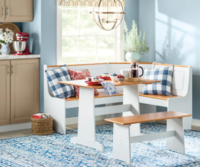 Corner Booth Farm Dining Set Kitchen Breakfast Nook Table Seating with Storage