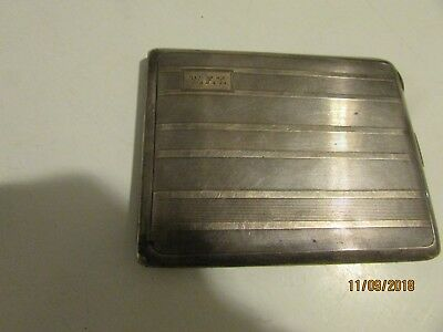 Vintage sterling silver cigarette case- marked-Tiffany &Co 1920's ? Family owned