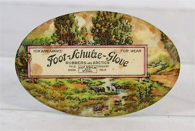 ca1905 CELLULOID ADVERTISING POCKET MIRROR - FOOT-SCHULZE GLOVE COMPANY ST. PAUL