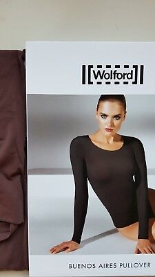 WOLFORD BUENOS AIRES PULLOVER long sleeve top 58238 S small in MADEIRA brown