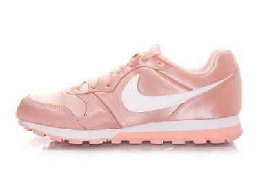 23aba27e3ed Nike MD Runner 2 Women s Shoes Pink Satin Athletic Sneakers Casual 749869  NEW