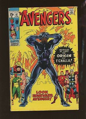 Avengers 87 FN+ 6.5 * 1 Book Lot * Marvel! Origin of Black Panther! Thor! Iron!