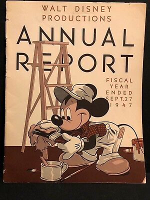 1947 Walt Disney Productions Annual Report Melody Time, Make Mine Music photos