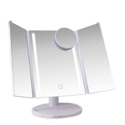 LED Touch Screen Makeup Mirror Tabletop Cosmetic Vanity light Folding / Standing
