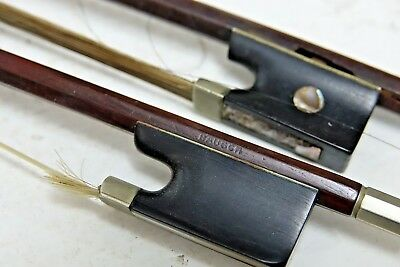 2 Old Violin Bows - One Impressed Bausch - Top Quality - Rare - L@@k
