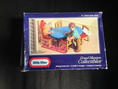 Little Tikes Grand Mansion Collectibles - Dining Room Set - MIB Dollhouse