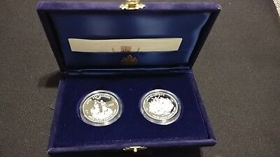 1997 VATICAN 2 COINS SET HOLY YEAR 2000 SILVER PROOF ANNO SANTO 10000 lire ITALY