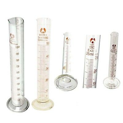 Graduated Glass Measuring Cylinder Chemistry Laboratory Measure NEW NEW NEW