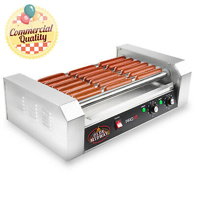 OPEN BOX - Commercial Electric 18 Hot Dog 7 Roller Grill Cooker Machine