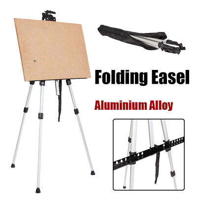 Portable Folding Aluminium Poster Stand Artist Studio  Table Top Drawing Easel