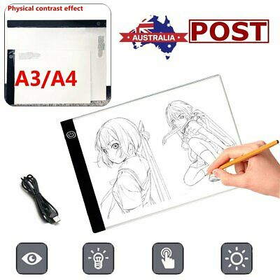 A3/A4 LED Light Box Tracing Drawing Board Art Design Copy Pad Day&Light 2000LM