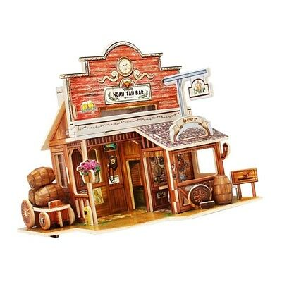 1:24 DIY Doll House Wooden West Bar Furniture Kit DIY Girl Boys Xmas Gifts