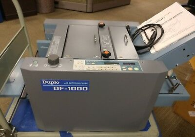 DUPLO DF 1000 AIR FEED FOLDER 2008 Programmable Automatic like Baum or Challenge