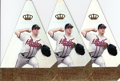 Lot of 5 1998 Pacific Crown Royale Cramer's Choice Greg Maddux - RARE!