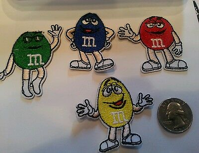 4 - M & M's M&M'S Peanuts Mars candy iron on embroidered Patch Patches Lot Kids