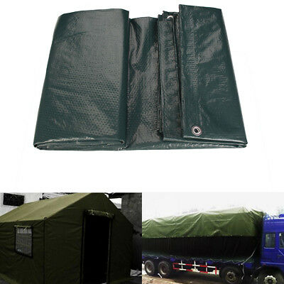 Waterproof Tarps Tarpaulin Ground Sheet Camping Cover Lightweight Dark Green