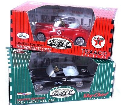 2 Gearbox Collectibles Texaco Series 1940 Ford Deluxe Coupe 1957 Chevy Bel Air