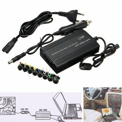 120W Universal AC/DC to DC Adapter Inverter Car Charger Power Supply For