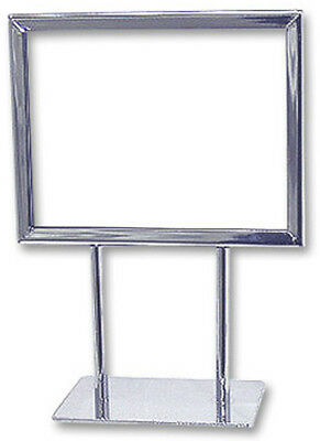 "Counter Top Display Sign Holder Card Frame Holder 7 x 5.5H"" Chrome Lot Of 10 New"