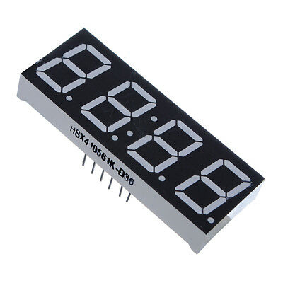 2x 0.56'' 7-Segment 4 Digit Super Red LED Display Common Anode Time for